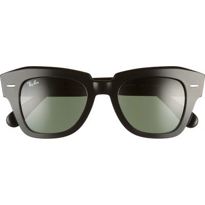 Ray-Ban State Street 4m Square Sunglasses - Black/ Green Solid