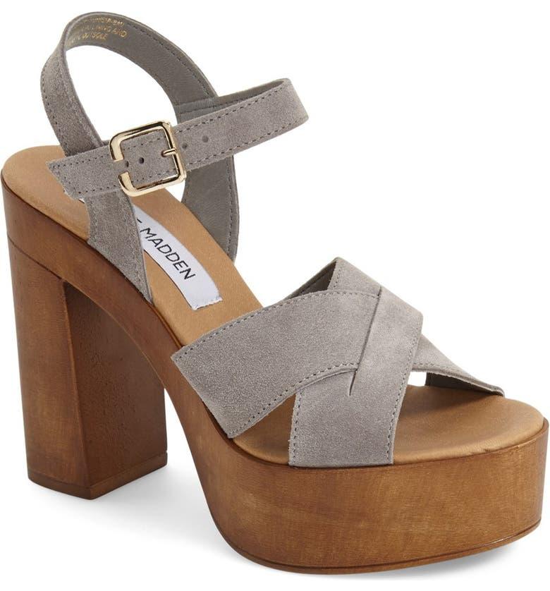 STEVE MADDEN 'Liveana' Platform Sandal, Main, color, 020