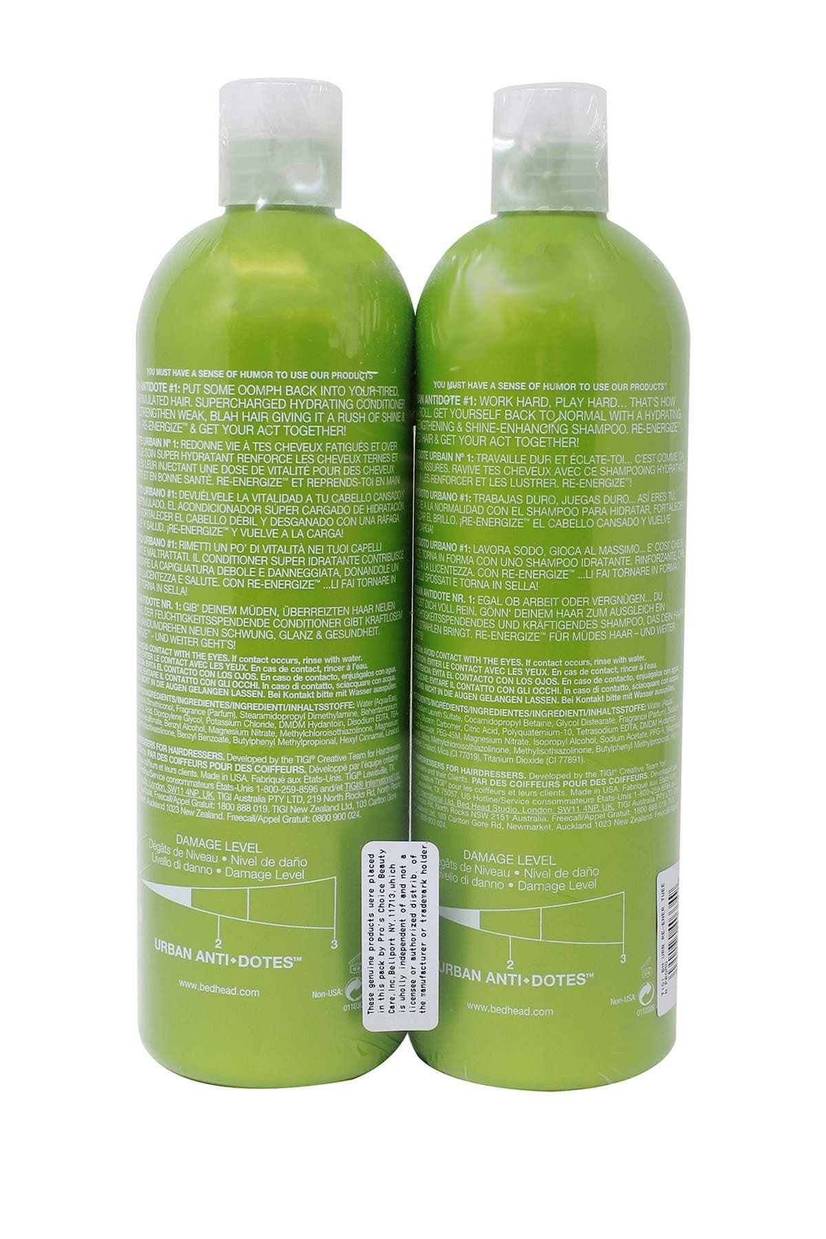Image of TIGI Bed Head Urban Anti-Dote Shampoo & Conditioner Set