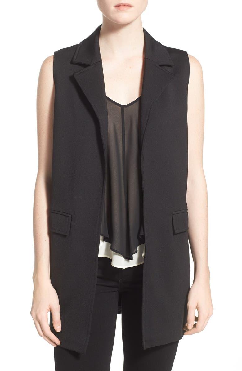 GLAMOROUS Front Pocket Vest, Main, color, 001