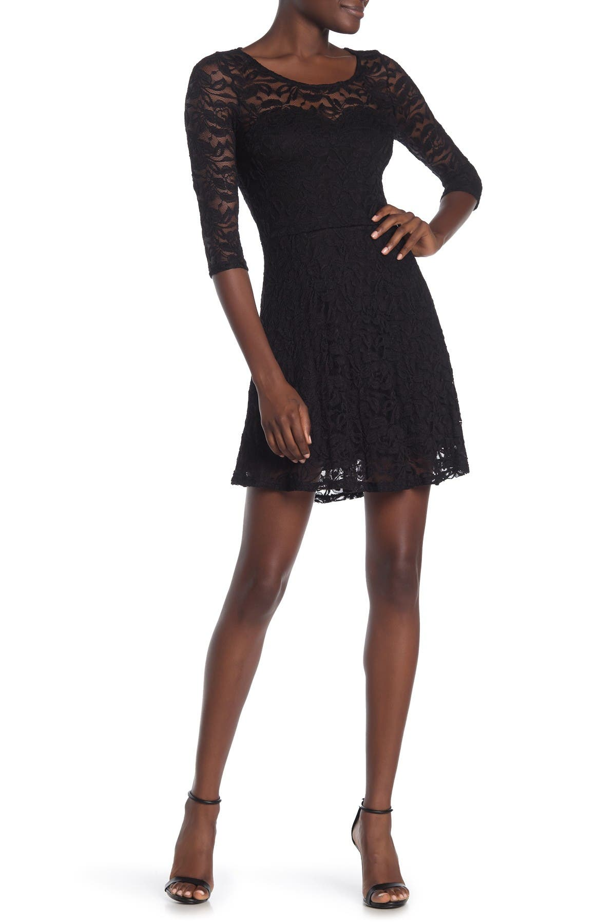 Image of MATERIAL GIRL Long Sleeve Lace Dress