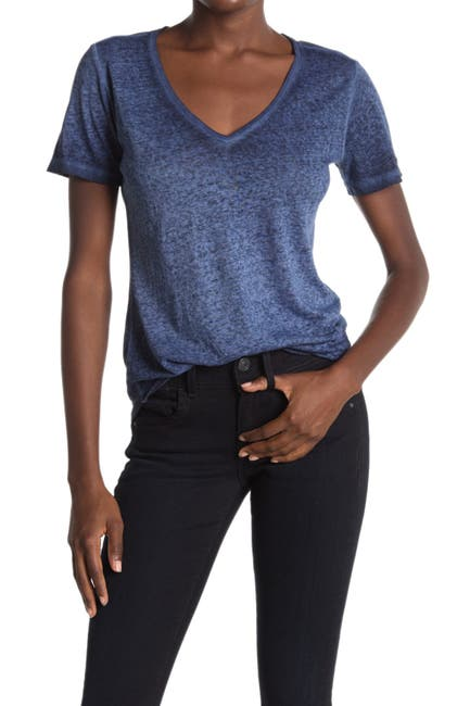 Image of G-STAR RAW Mysid Optic Slim V-Neck Shirt
