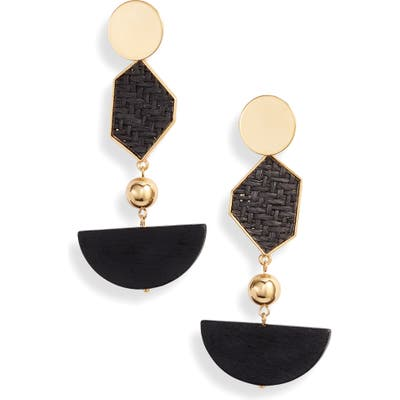 Ettika Geometric Drop Earrings