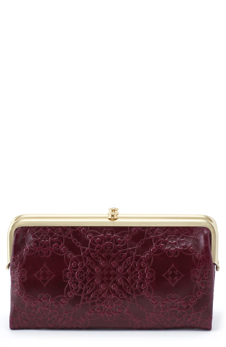 HOBO Lauren Embossed Leather Double Frame Clutch, Main, color, 506