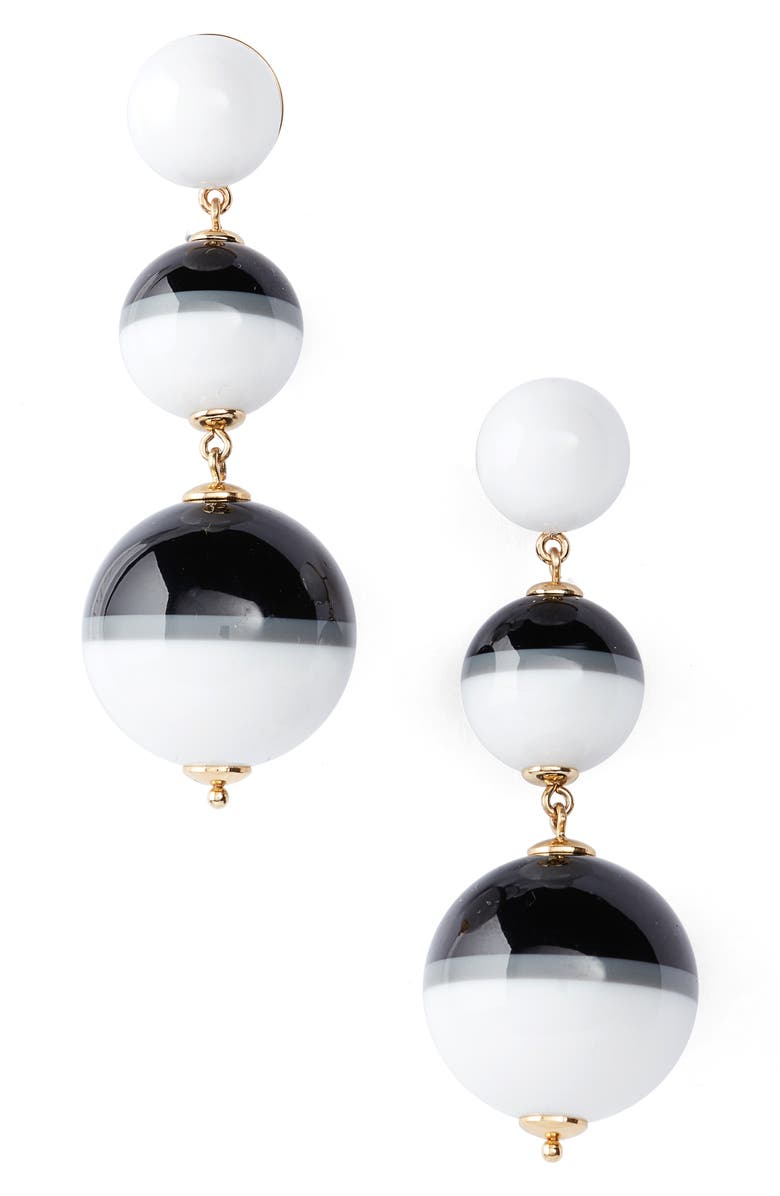 KATE SPADE NEW YORK in a flash drop earrings, Main, color, 100