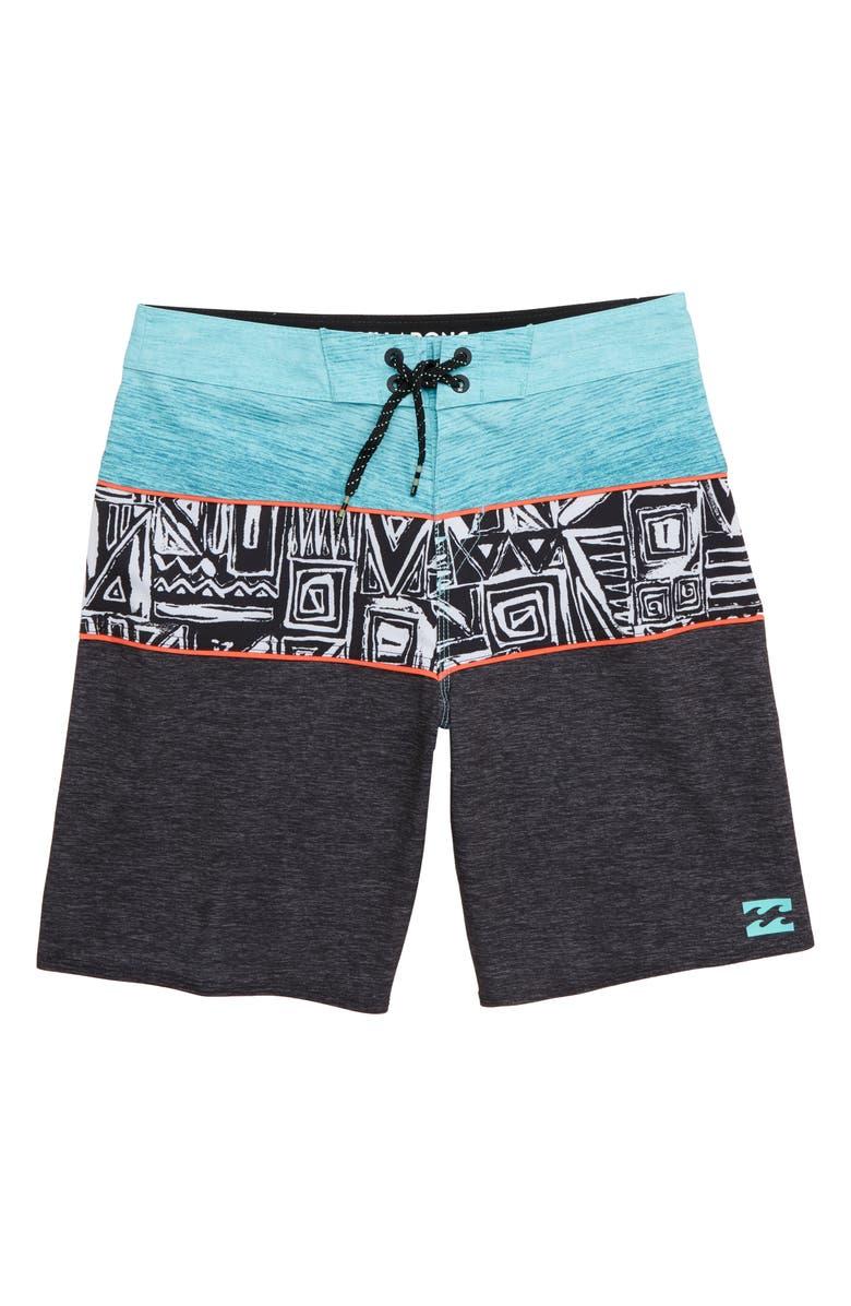BILLABONG Tribong X Board Shorts, Main, color, PHANTOM