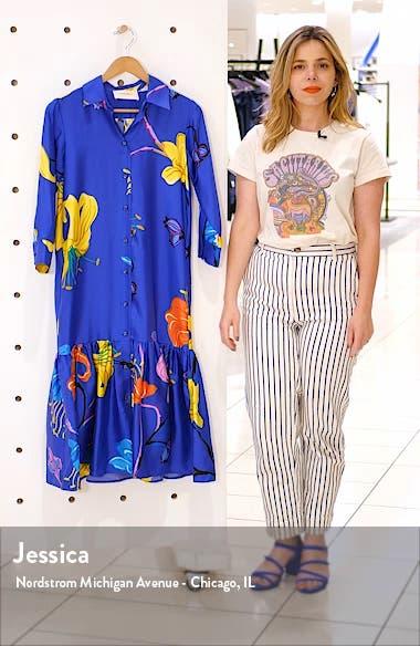 Getting My Croissant Floral Ruffle Silk Shirtdress, sales video thumbnail