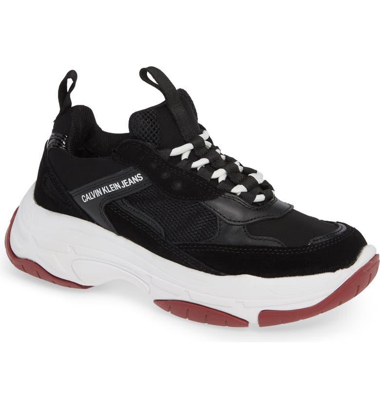 CALVIN KLEIN JEANS Maya Sneaker, Main, color, 001