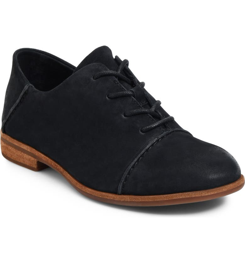 KORK-EASE<SUP>®</SUP> Tillery Oxford, Main, color, BLACK SUEDE