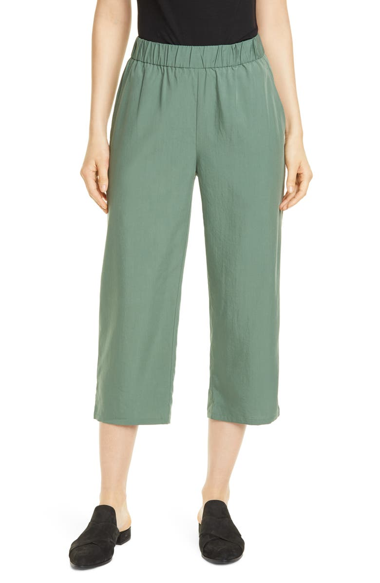 EILEEN FISHER Slouchy Crop Pants, Main, color, NORI