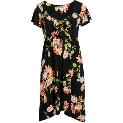 Tommy Bahama Petal Of Honor Tie Front Dress, Black