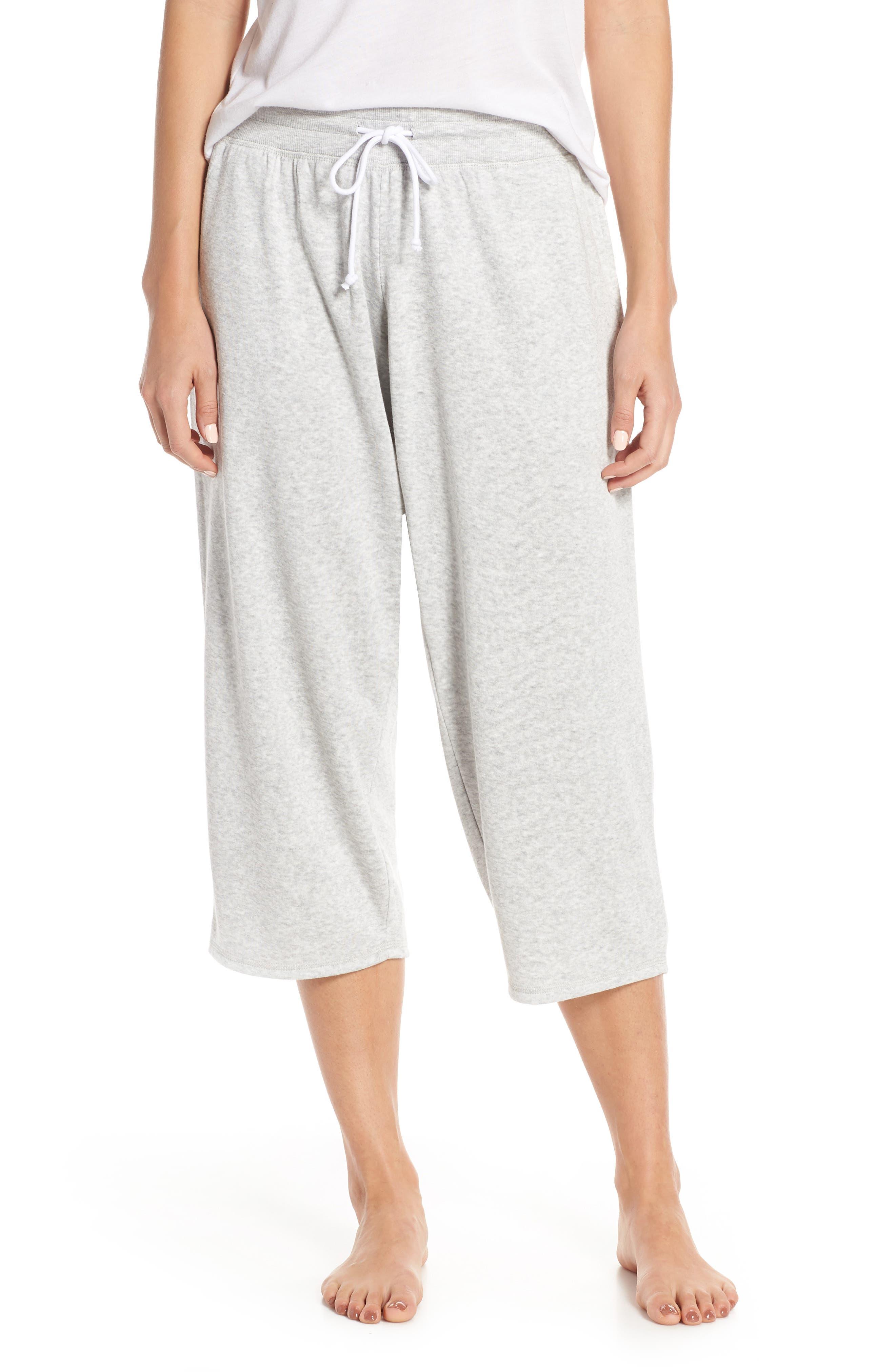,                             Cropped Fleece Pants,                             Main thumbnail 1, color,                             050