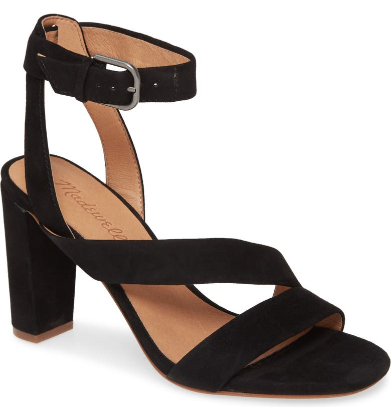 MADEWELL The Liv Sandal, Main, color, TRUE BLACK