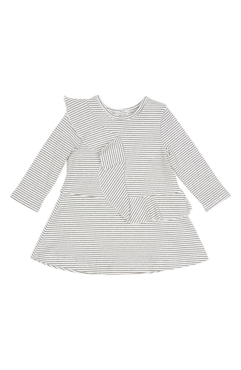 HABITUAL Jordyn Stripe Ribbed Dress, Main, color, BLACK