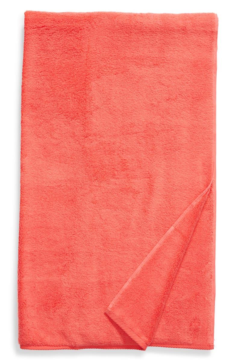 MATOUK Milagro Bath Sheet, Main, color, HIBISCUS