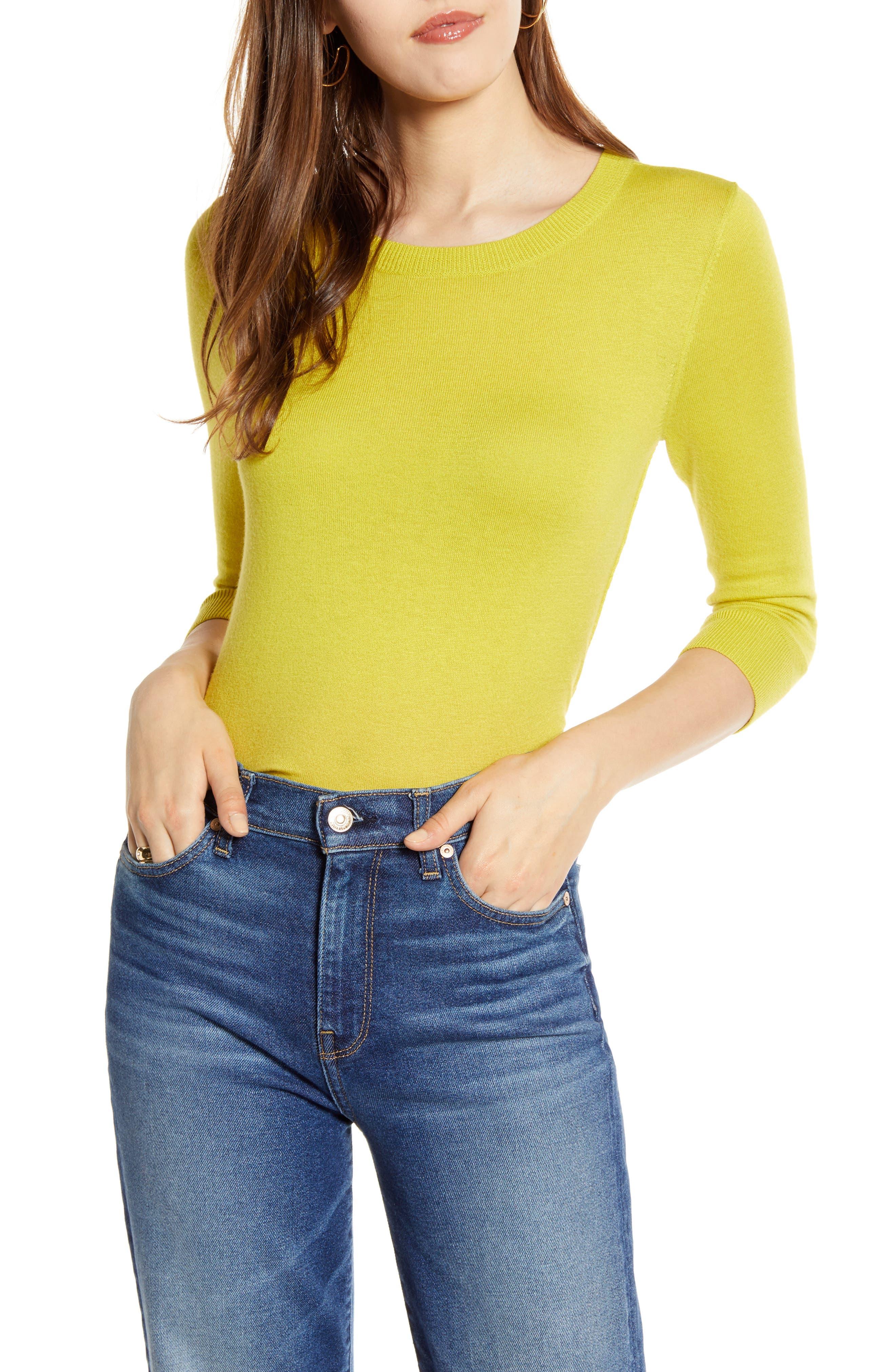 Cotton Blend Pullover, Main, color, OLIVE WARM