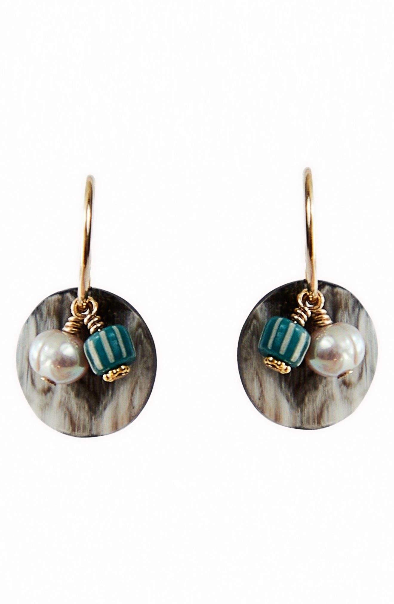 Giselle Genuine Pearl Hoop Earrings