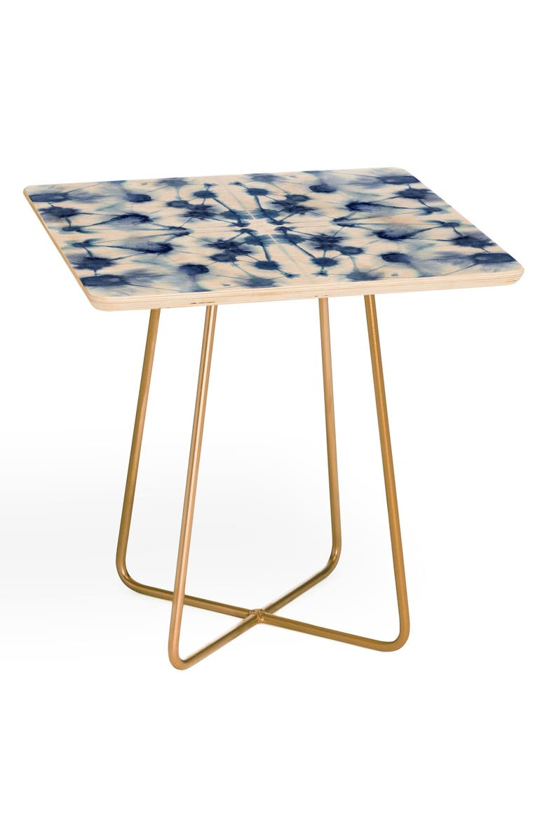 DENY DESIGNS Jacqueline Maldonado Mirror Side Table, Main, color, BLUE