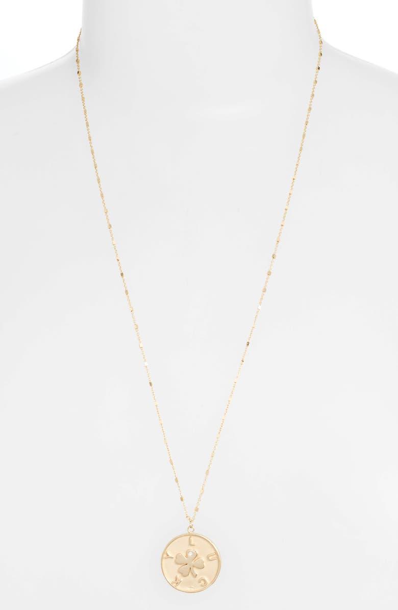 JENNIFER ZEUNER Keisha Diamond Pendant Necklace, Main, color, 710