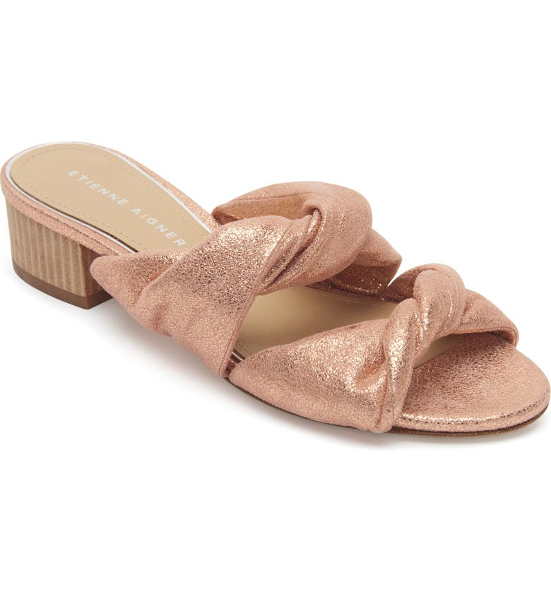 ETIENNE AIGNER Bria Slide Sandal, Main, color, CAMEO LEATHER