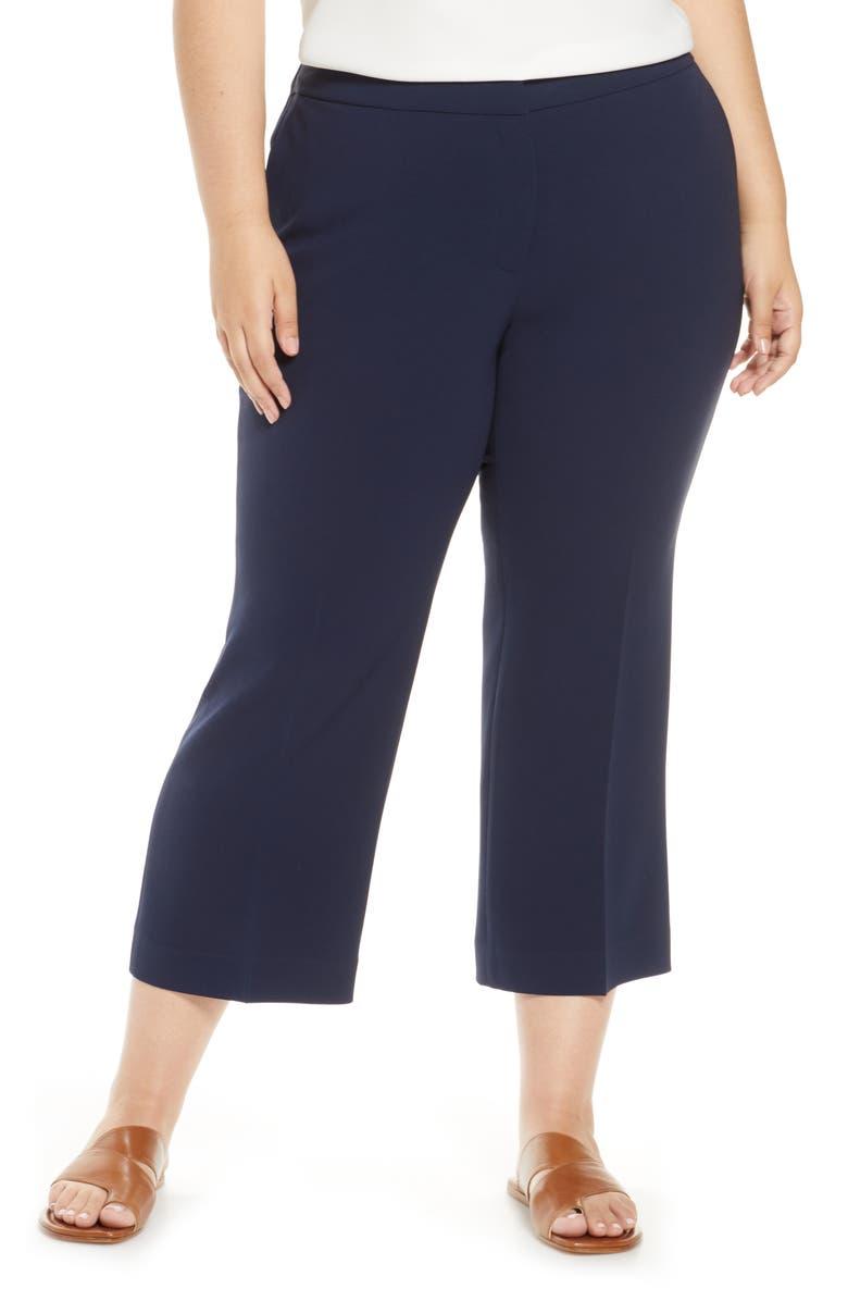 LAFAYETTE 148 NEW YORK Manhattan Finesse Crepe Crop Flare Pants, Main, color, ROYAL BLUE
