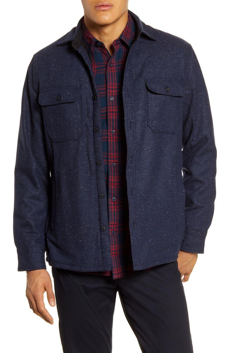 1901 Faux Fur Lined Wool Blend Shirt Jacket, Main, color, 410
