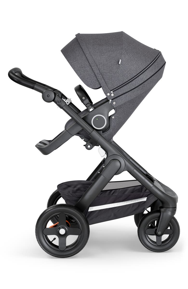 STOKKE Trailz Black Frame All Terrain Stroller, Main, color, BLACK MELANGE/ BLACK
