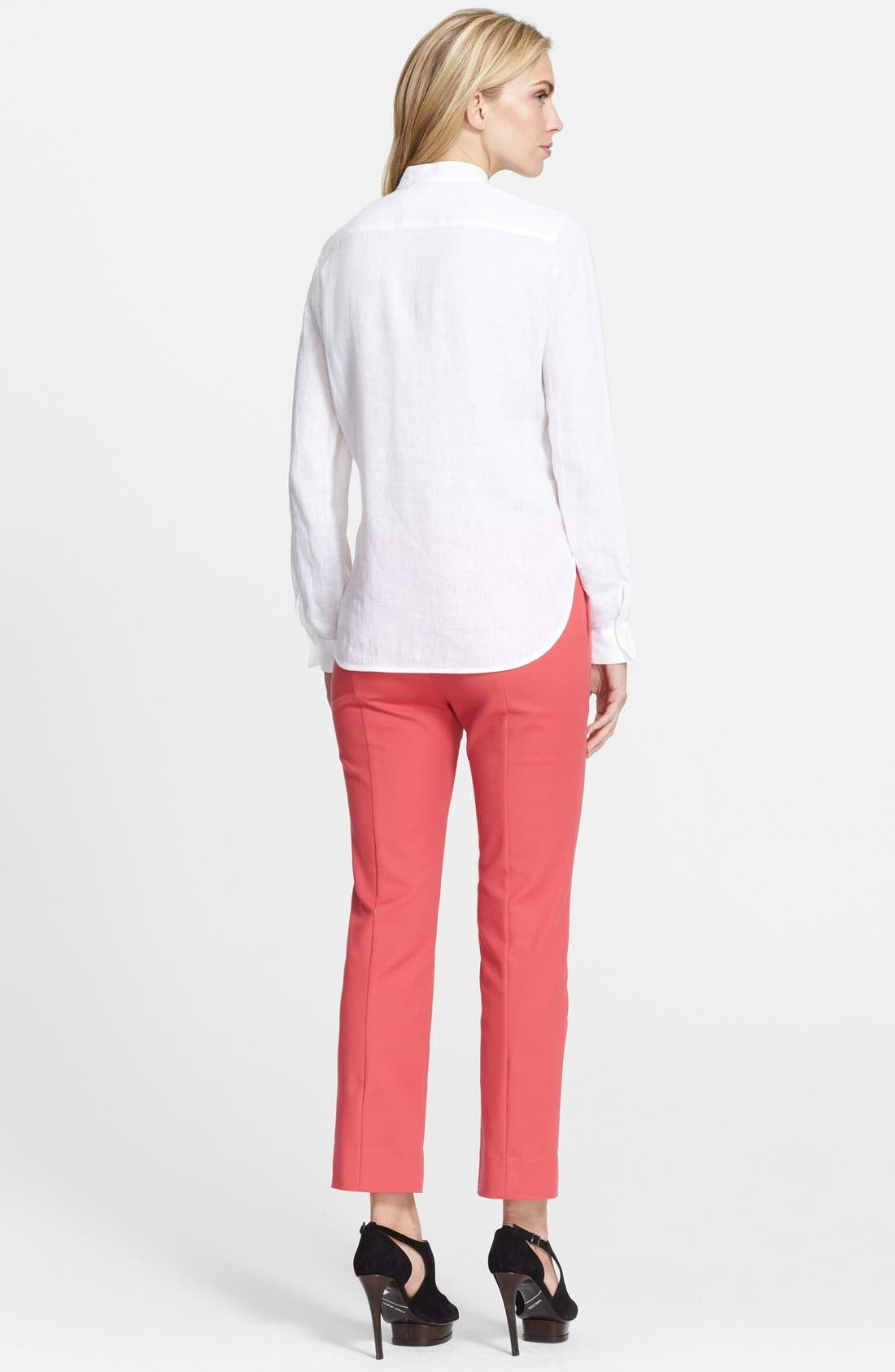 ,                             Linen Tunic Shirt,                             Alternate thumbnail 3, color,                             100