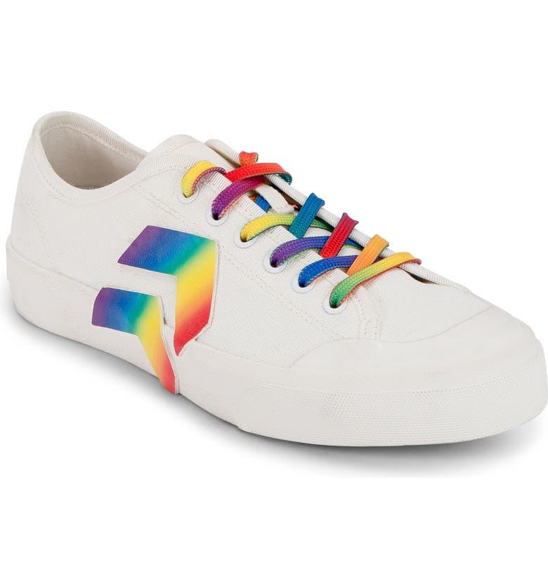 DOLCE VITA Bryton Pride Sneaker, Main, color, RAINBOW ECO CANVAS