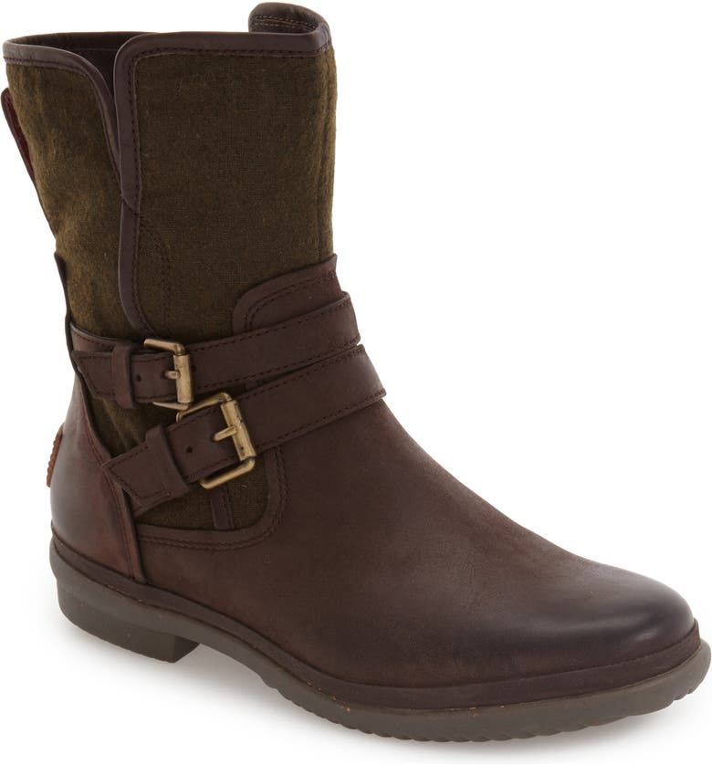 UGG Simmens Waterproof Leather Boot, Main, color, STOUT LEATHER