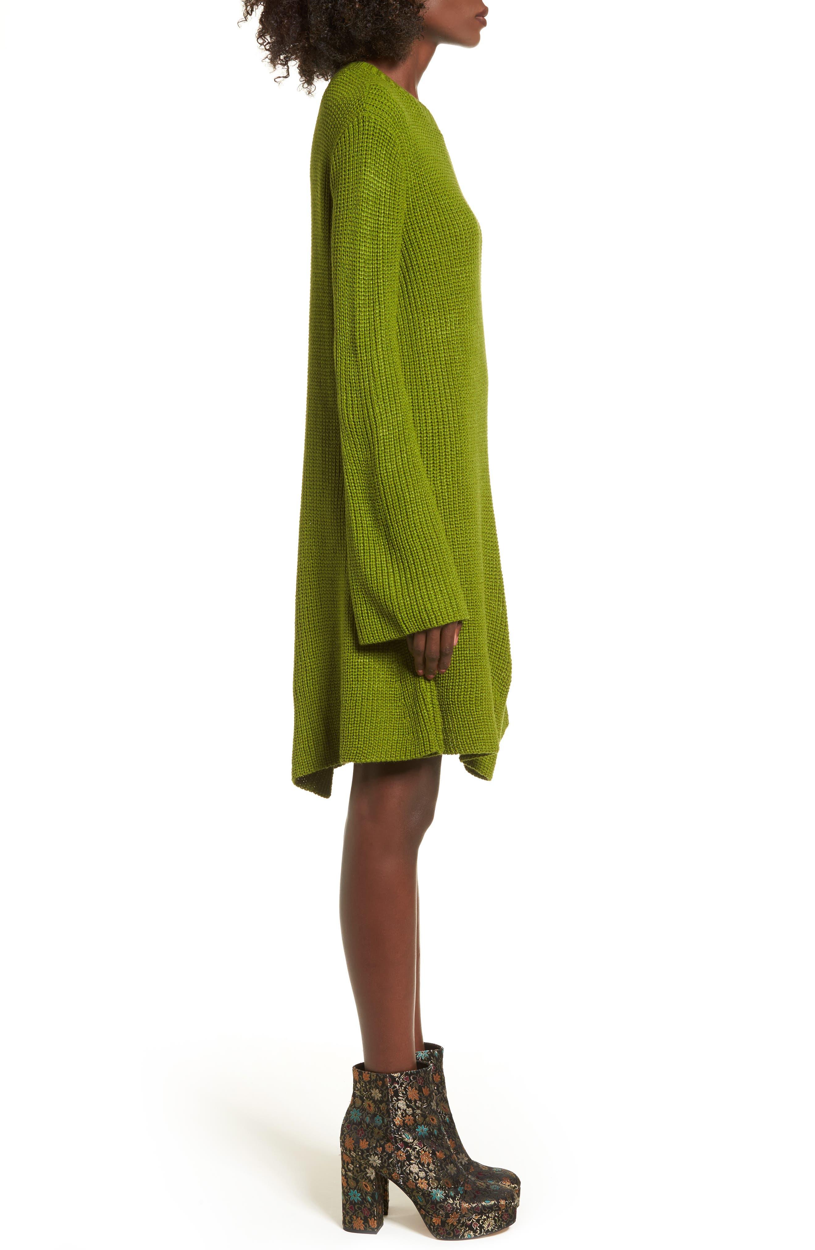 ,                             Flared Sleeve Sweater Dress,                             Alternate thumbnail 9, color,                             300