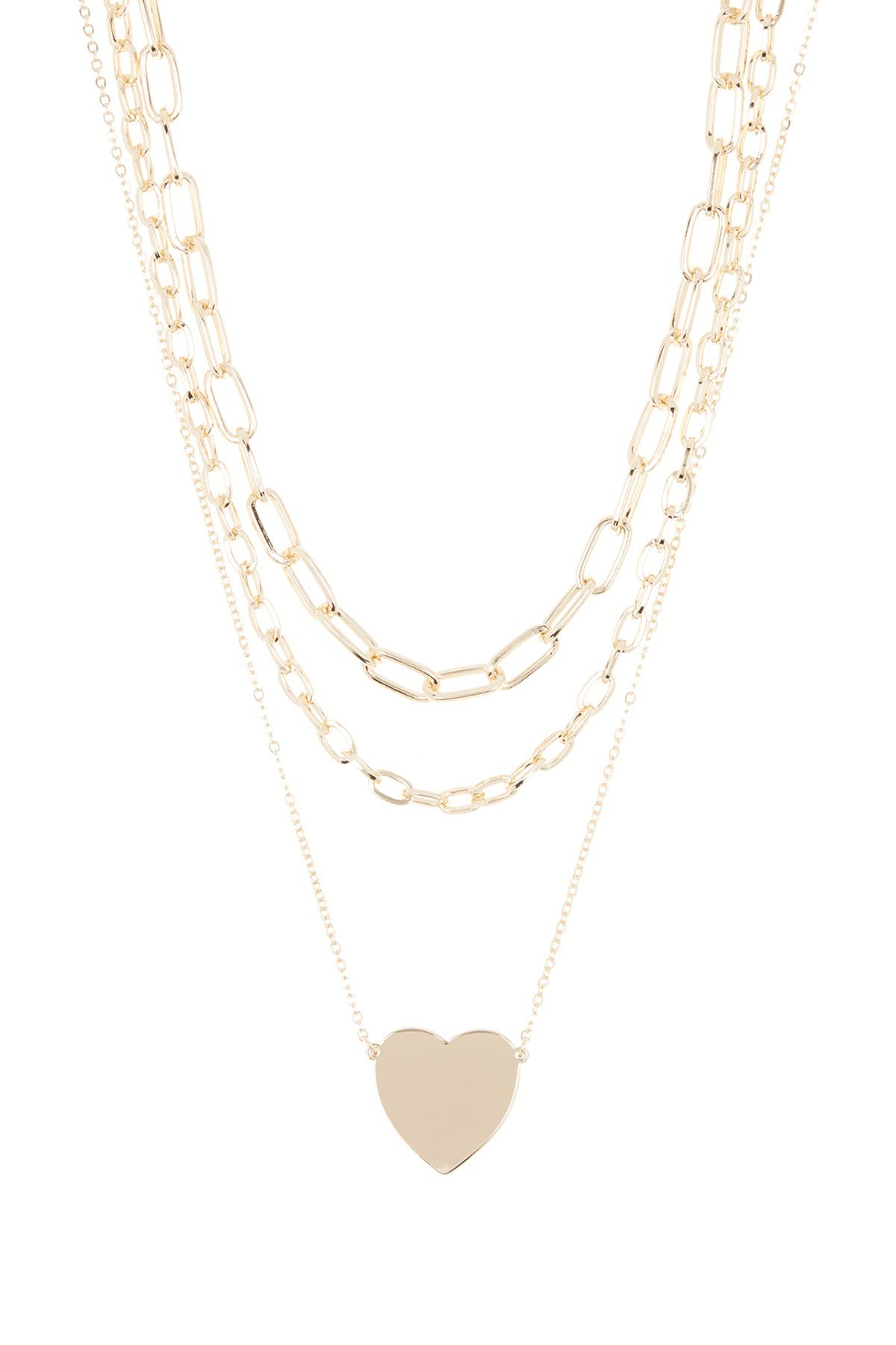 Image of Panacea Layered Heart Pendant Necklace