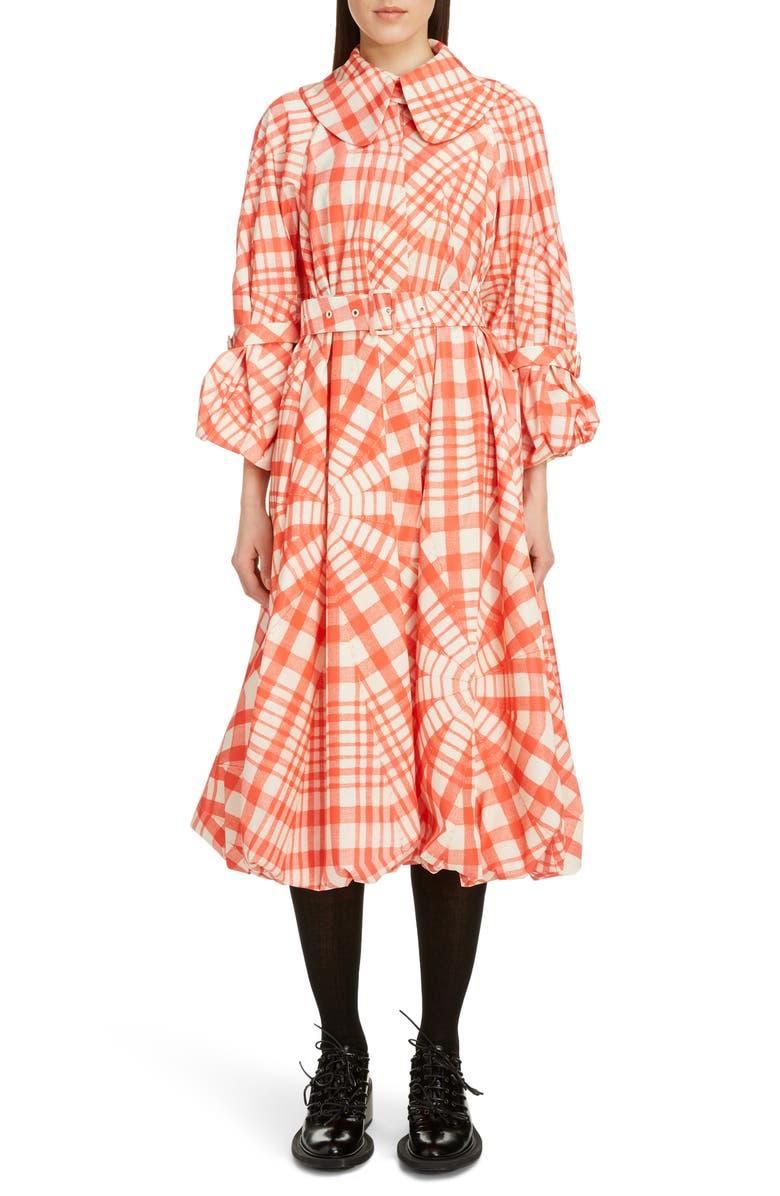 SIMONE ROCHA Bell Taffeta Coat, Main, color, 600