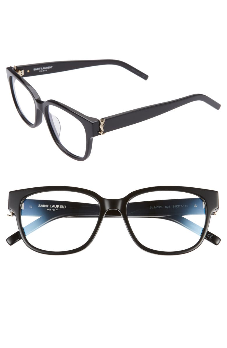 SAINT LAURENT 54mm Optical Glasses, Main, color, 001
