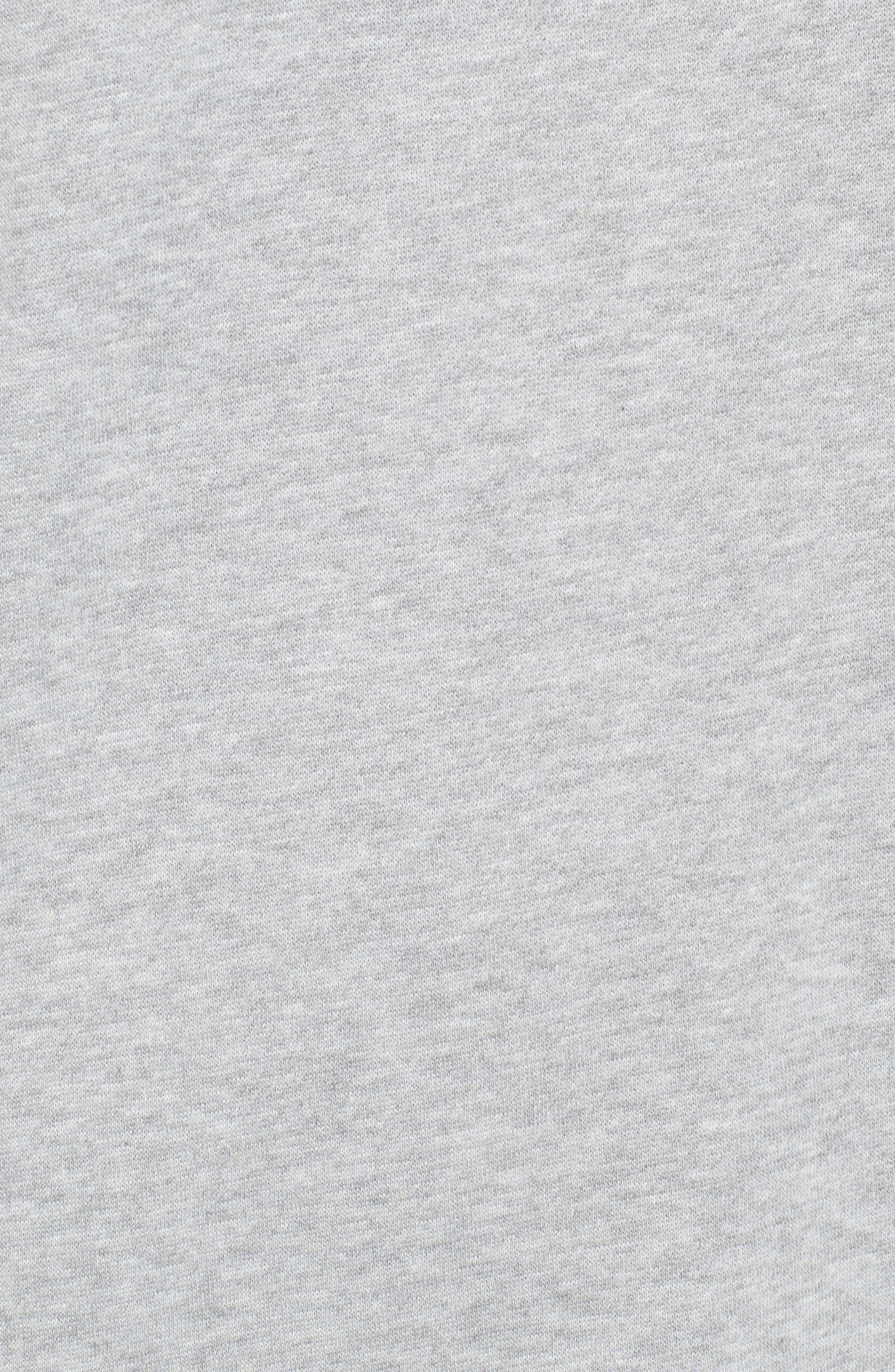 ,                             Ruched Sleeve Sweatshirt Dress,                             Alternate thumbnail 5, color,                             020