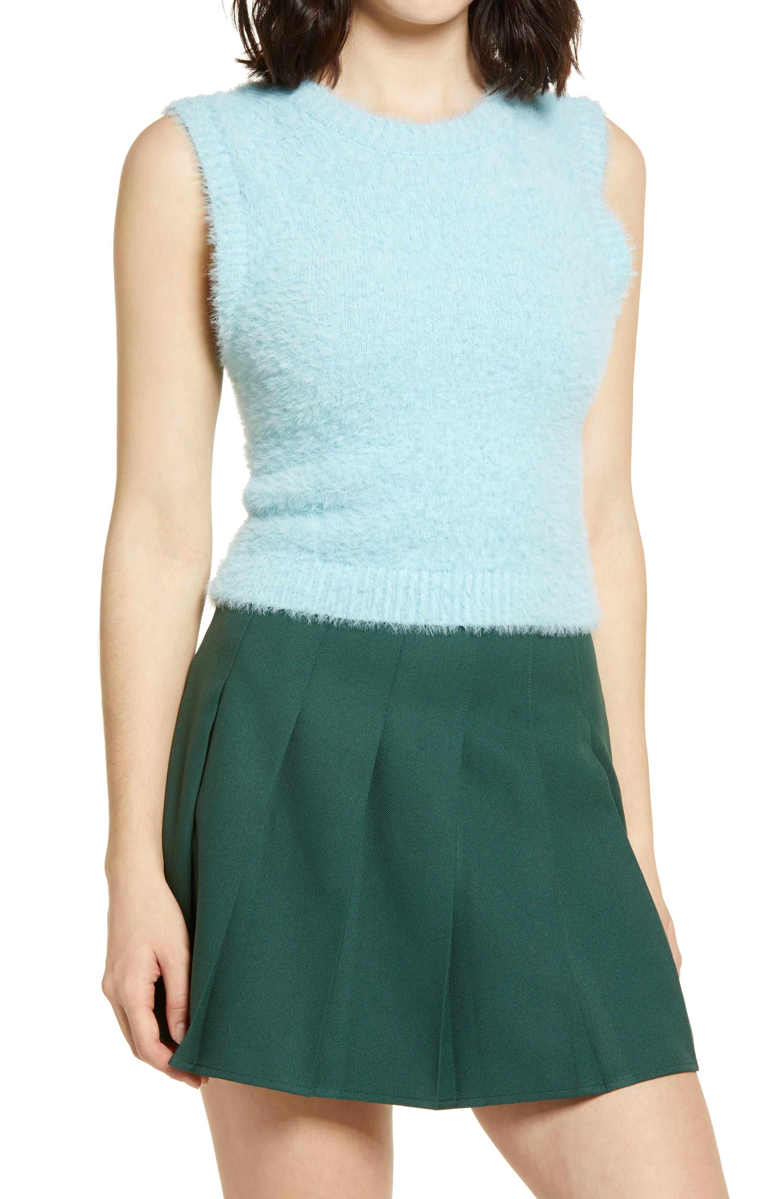 50s Shirts & Tops BP. Fitted Sweater Vest Size X-Large - Blue Glaze at Nordstrom Rack $15.97 AT vintagedancer.com