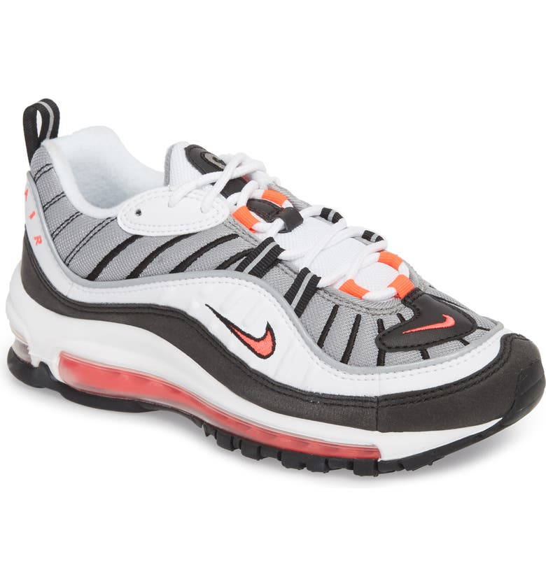 pretty nice 6126f 1fd4f Air Max 98 Running Shoe, Main, color, WHITE  RED  DUST