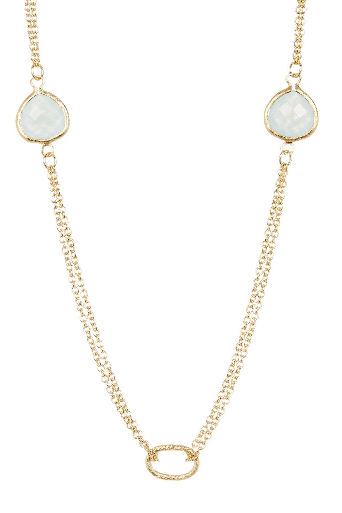 Image of Rivka Friedman 18K Gold Clad Quartize Link Necklace
