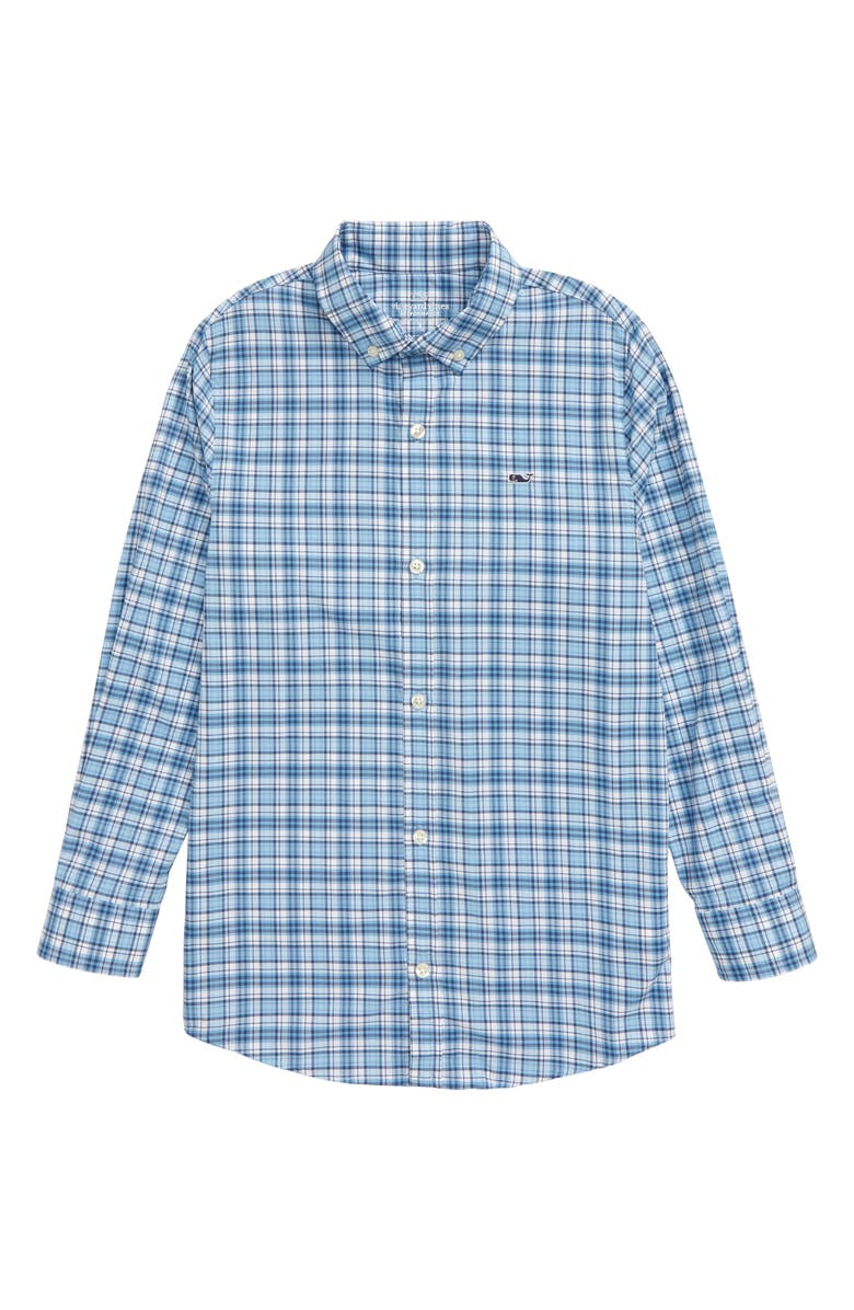 VINEYARD VINES Litchfield Whale Performance Button-Down Shirt, Main, color, JAKE BLUE