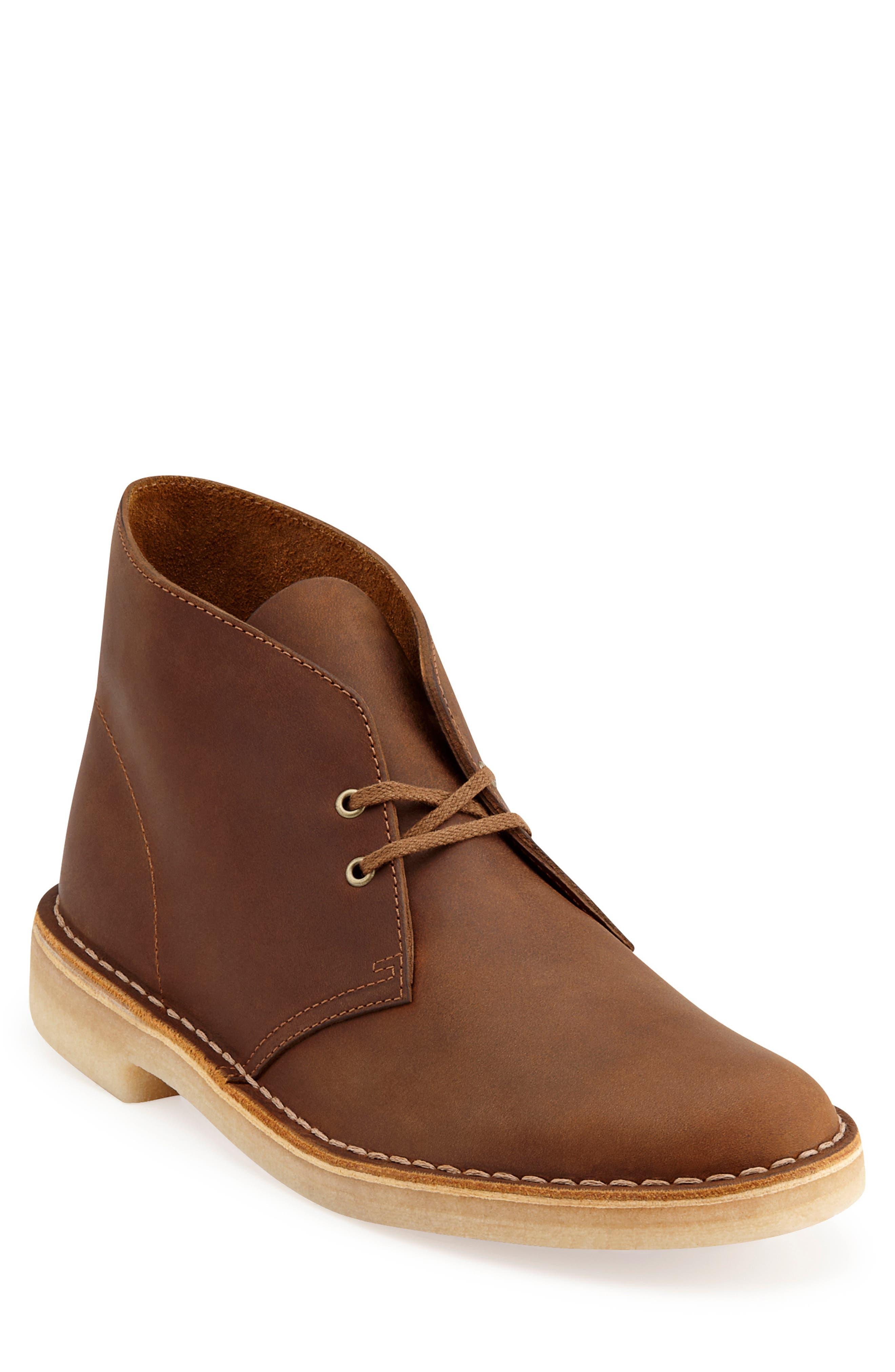 Mens Vintage Style Shoes & Boots| Retro Classic Shoes Mens Clarks Originals Desert Boot $130.00 AT vintagedancer.com