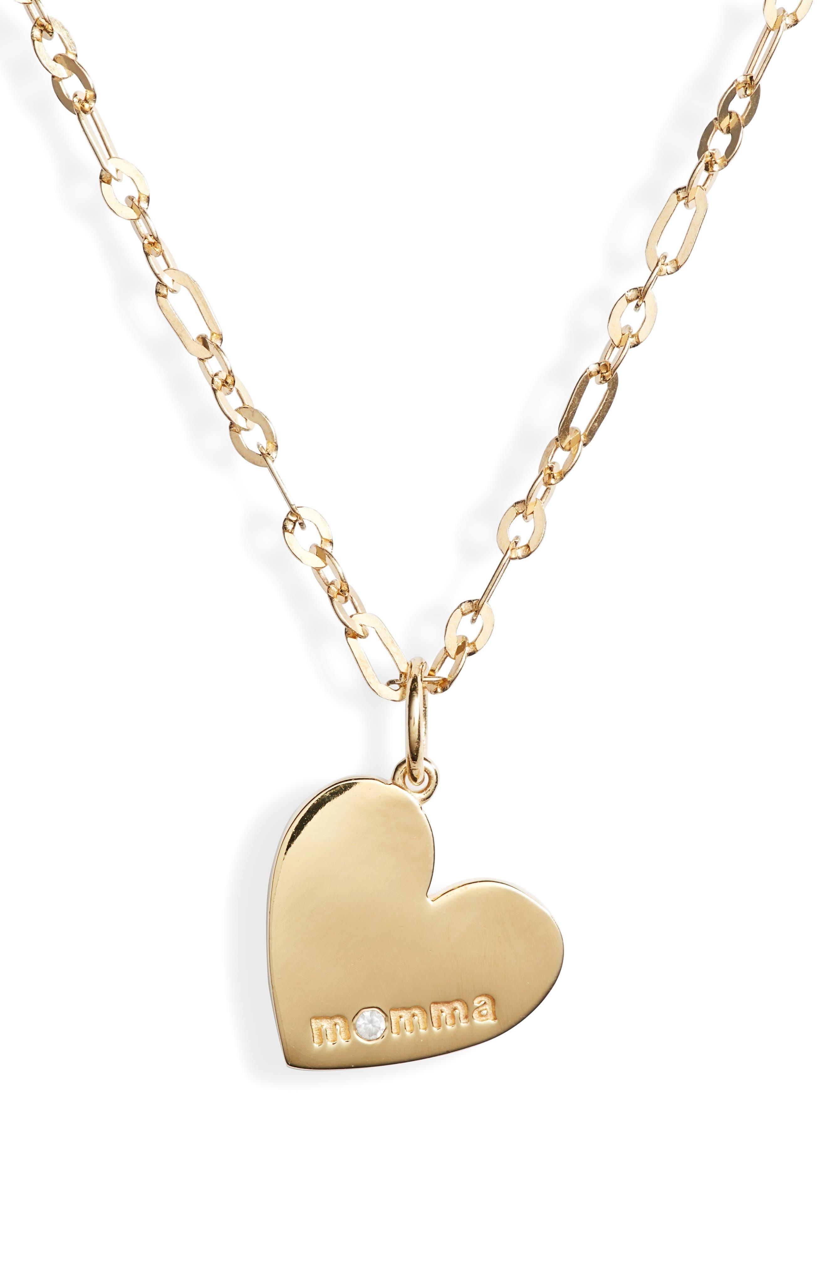 Momma Heart Pendant Necklace