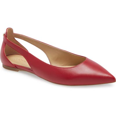 Michael Michael Kors Pointed Toe Flat, Red