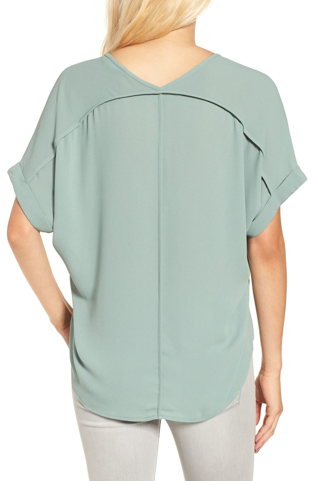 ,                             Lush Cuff Sleeve Woven Tee,                             Alternate thumbnail 59, color,                             306