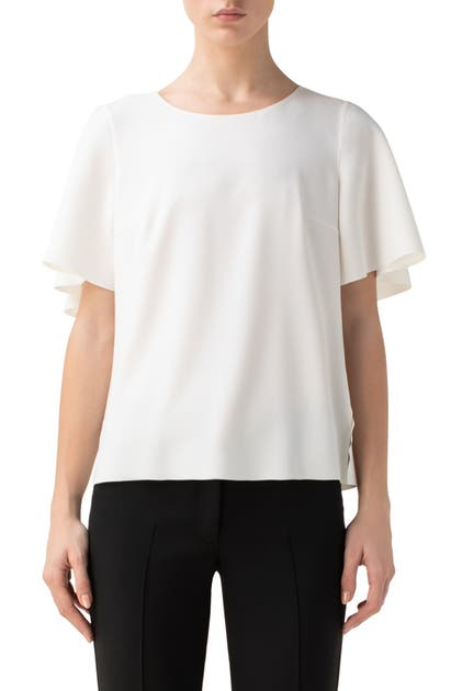 Akris Punto CAPE CREPE TOP