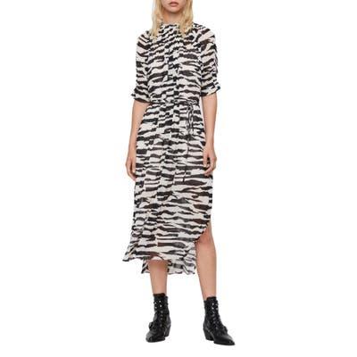 Allsaints Xena Zephyr Midi Dress, Ivory