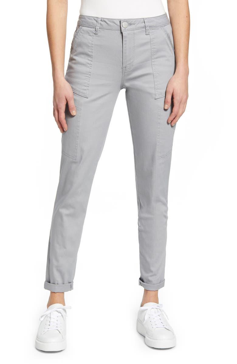 WIT & WISDOM Flex-ellent High Waist Cargo Pants, Main, color, DGY-DOVE GREY