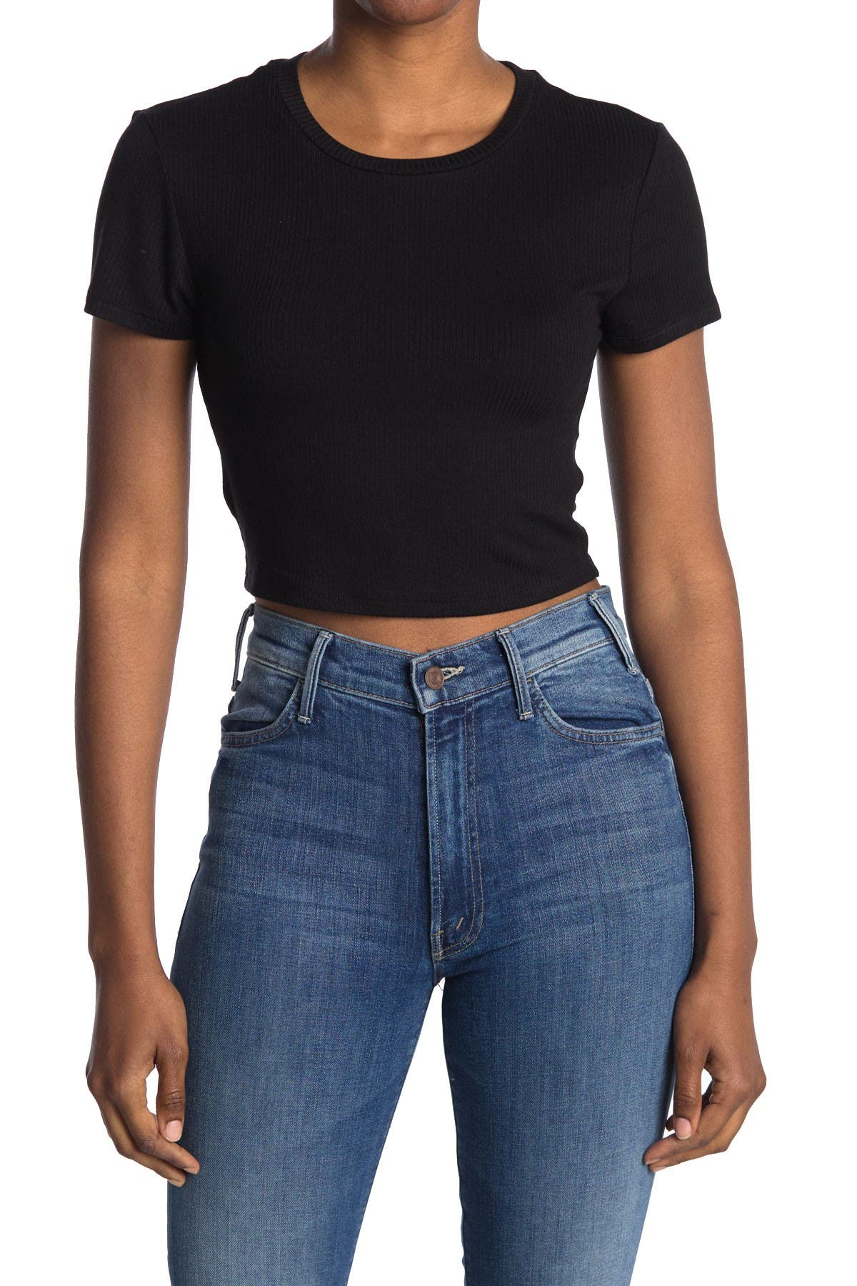 Image of BCBGeneration Baby Cropped Knit Top