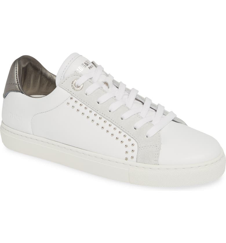 ZADIG & VOLTAIRE ZV1747 Sneaker, Main, color, BLANC