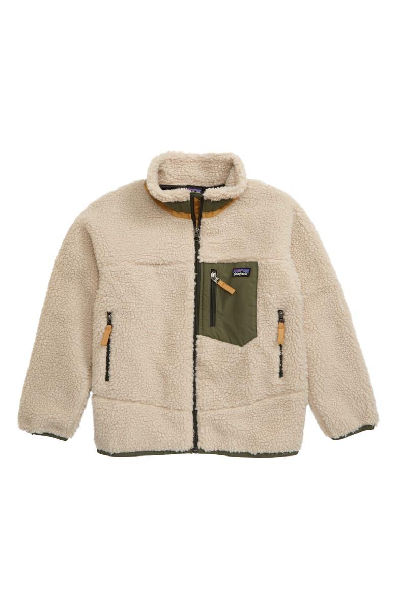 PATAGONIA Retro-X Windproof Fleece Jacket, Main, color, NATURAL/ INK BLACK