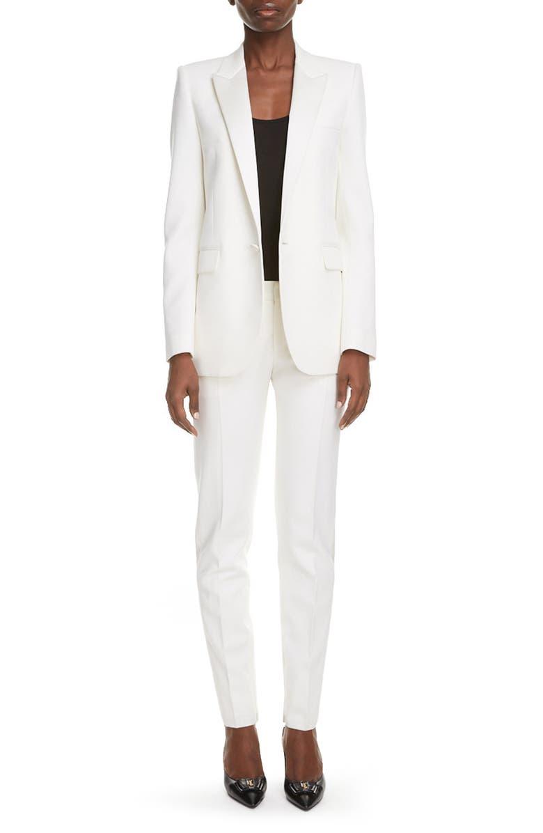 SAINT LAURENT Wool Blazer, Main, color, SHELL